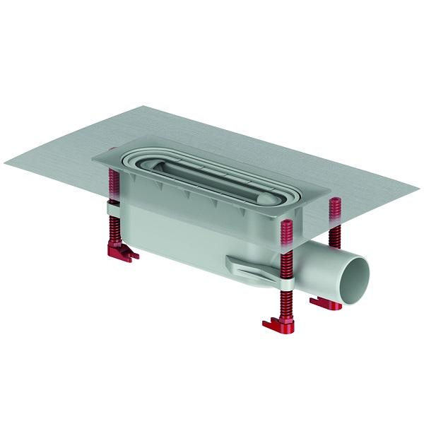Aco ShowerDrain S+ vpust štandard k sprchovému profilu 800 až 1200, H90mm, s izolačným pásom
