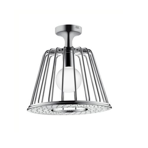 Axor LAMPSHOWER 275 1jet dizajn Nendo s LED osvetlením a vertikálnym ramenom 265 mm chróm