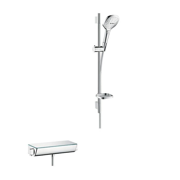 batéria sprch nást termostat Ecostat Select + set sprch Raindance Select E 120 3jet 0,65 m  biela/chróm