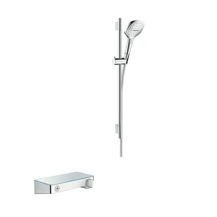 batéria sprch nást termostat ShowerTablet Select 300 + set 0,65 m RAINDANCE Select E 120 3jet biela/chróm