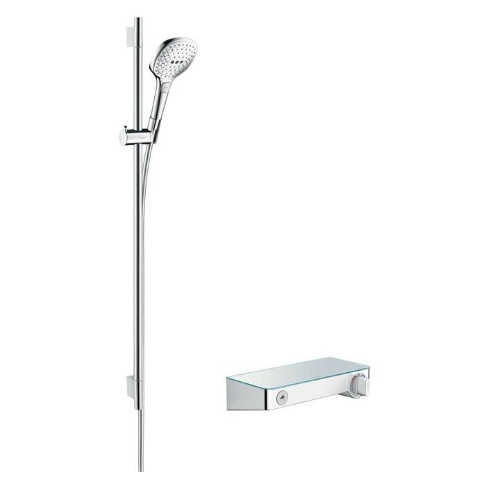 batéria sprch nást termostat ShowerTablet Select 300 + set 0,90 m RAINDANCE Select E 120 3jet biela/chróm