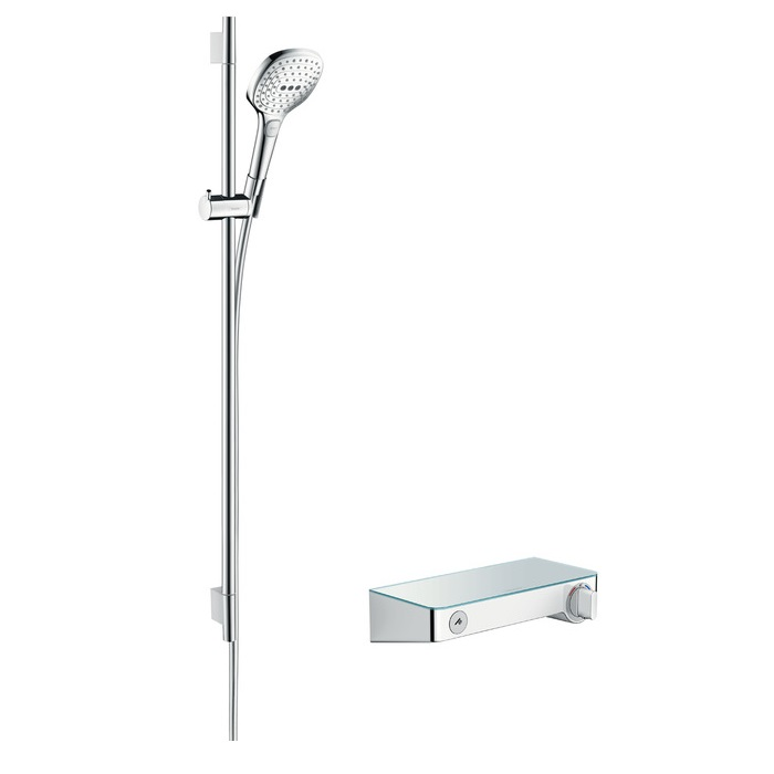 batéria sprch nást termostat ShowerTablet Select 300 + set 0,90 m RAINDANCE Select E 120 3jet chróm