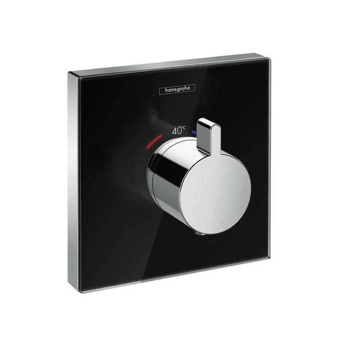 batéria sprch podom termostat ShowerSelect Glass Highflow čierna/chróm