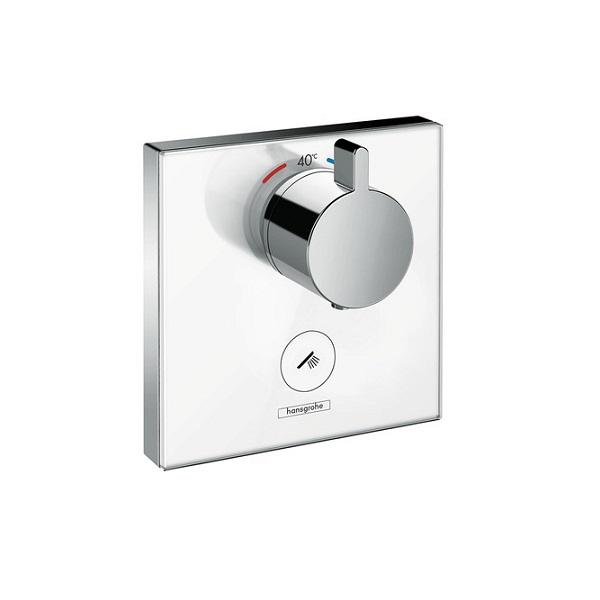 batéria sprch podom termostat ShowerSelect Glass Highflow pre 1 spotrebič a ďalší výtok biela/chróm