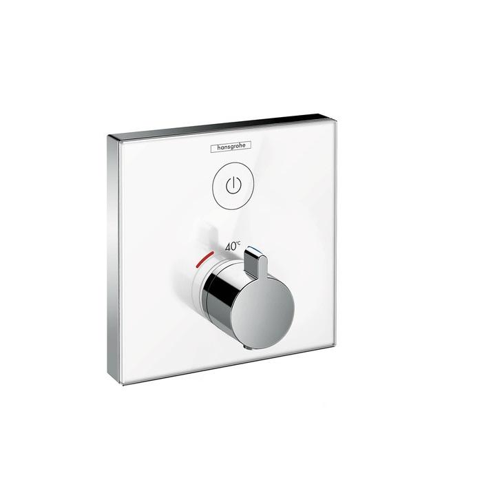batéria sprch podom termostat ShowerSelect Glass pre 1 spotrebič biela/chróm
