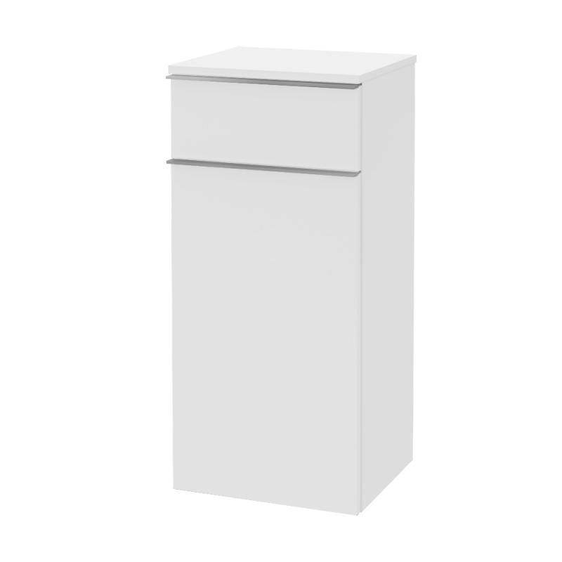 bočná skrinka VENTICELLO 404 x 866 x 372 mm Glossy White, úchytka chróm A95011DH