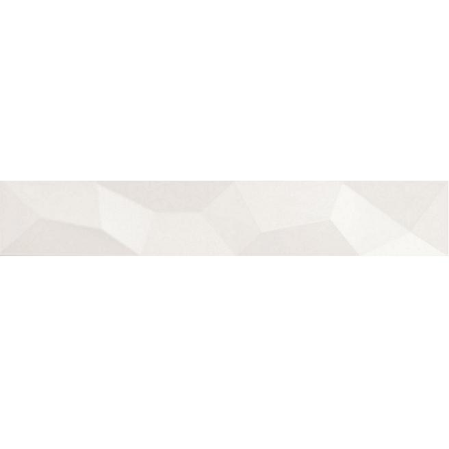 bordúra BIANCONERO 10 x 60 cm kristall lesklá biela