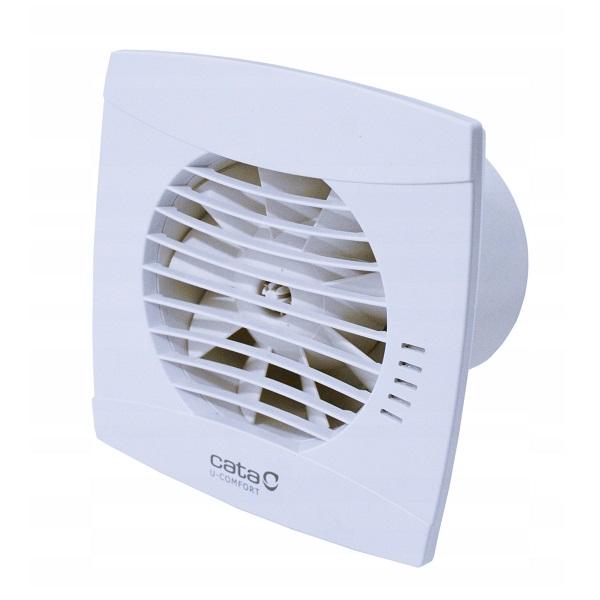 CATA U-COMFORT kúpeľňový ventilátor UC-10 Timer + Hygro, s časovačom avlhkomerom, zo spätnou klapkou, biely   01200200