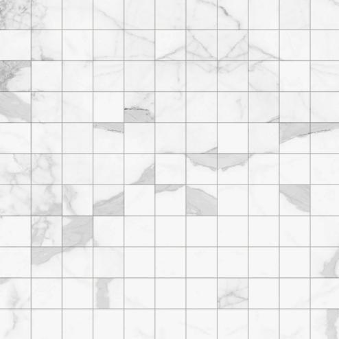 dekor mozaika METROPOLITAN D.CITIZEN-B/2,5 30 x 30 cm vzhľad mramor biela