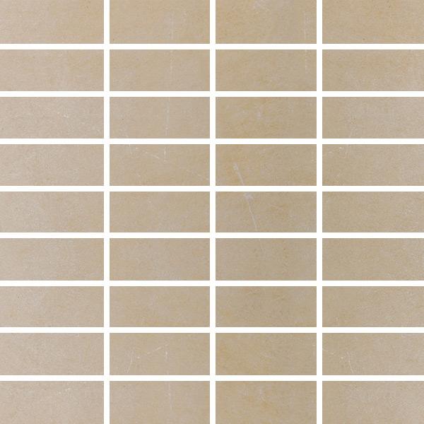 dlažba mozaika BERNINA 3,3 x 7,5 cm matná béžová  (plát 30x30)