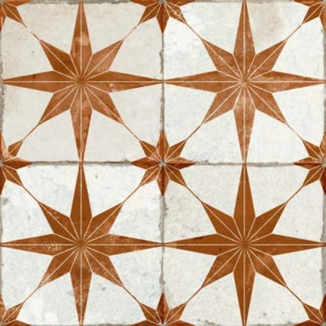 dlažba mozaika FS STAR OXIDE 45 x 45 x 1,05 cm R9 matná hnedá
