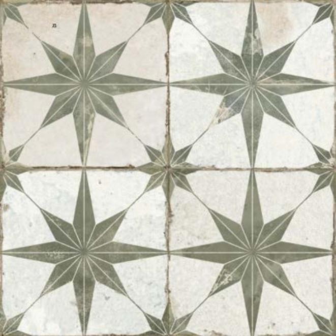 dlažba mozaika FS STAR SAGE 45 x 45 x 1,05 cm R9 matná šedá
