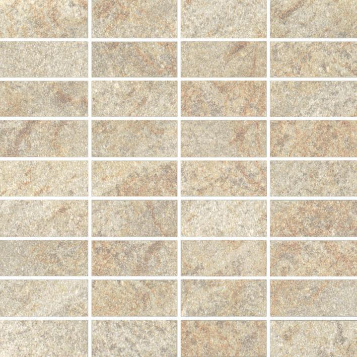 dlažba mozaika MY EARTH 30 x 30 cm (3,3 x 7,5 cm ) matná svetlo béžová