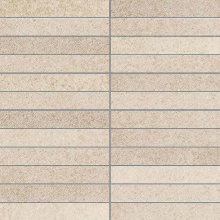 dlažba mozaika X-PLANE 30 x 30 cm (2,5 x 15 cm) pásík matná krémová