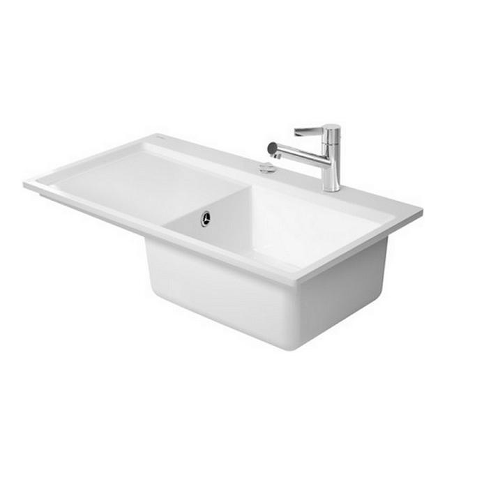 drez keramický KIORA 900 x 510 umývadlo v pravo biela