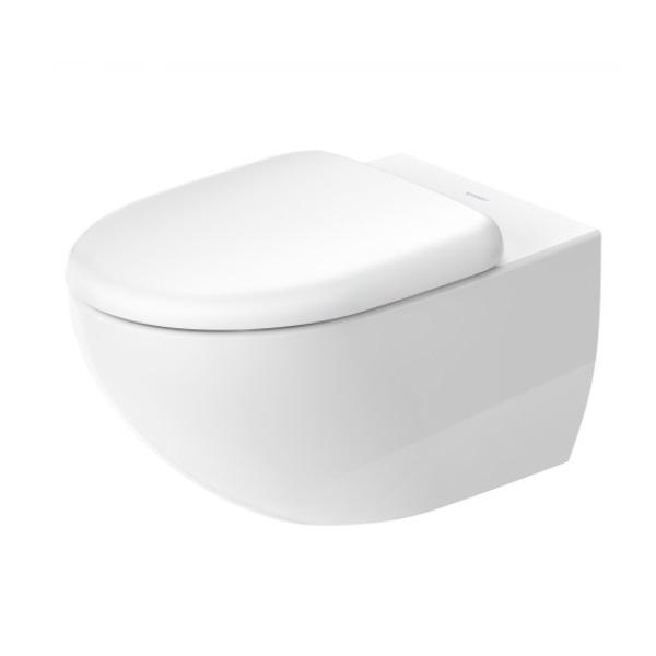 DURAVIT Architec set 2v1 závesná WC misa Rimless 2572090000 s WC sedátkom SoftClose, biela 45720900A1