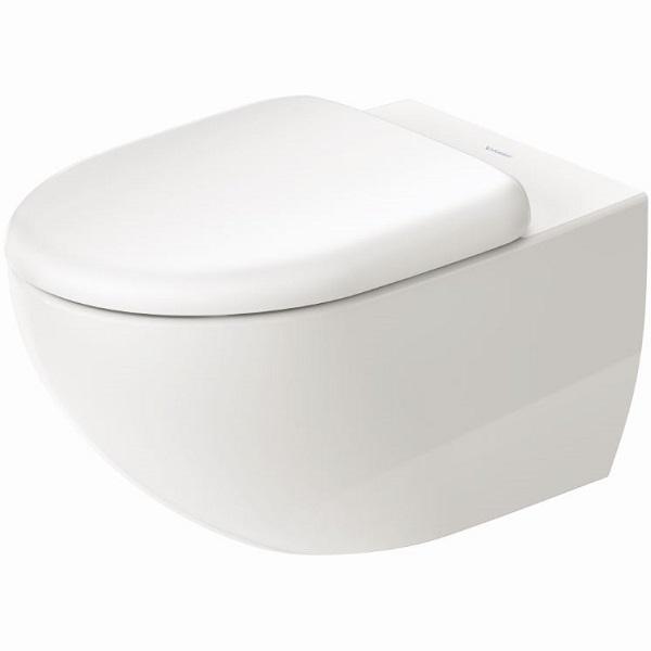 DURAVIT Architec závesná WC misa 36,5 x 57,5 cm Rimless, upevnenie Durafix, biela s glazúrou Hygiene Glaze 2572092000