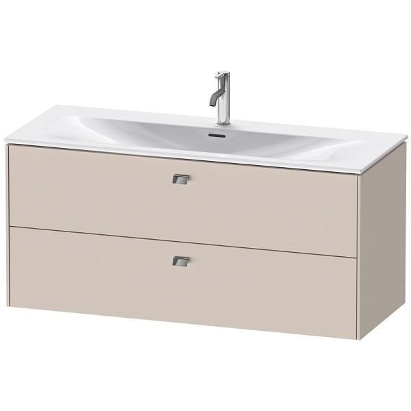 Duravit BRIOSO skrinka pre umývadlá VIU 123 x 49 cm s dvomi zásuvkami, farba Taupe BR431409191