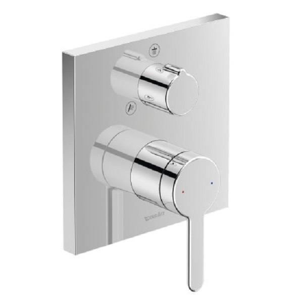 Duravit C.1 sprchová podomietková batéria, hranatá s prep. horná / ručná sprcha, chróm C14210011010