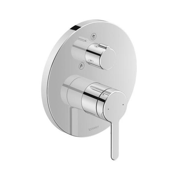 Duravit C.1 sprchová podomietková batéria, okrúhla s prep. horná / ručná sprcha, chróm C14210012010