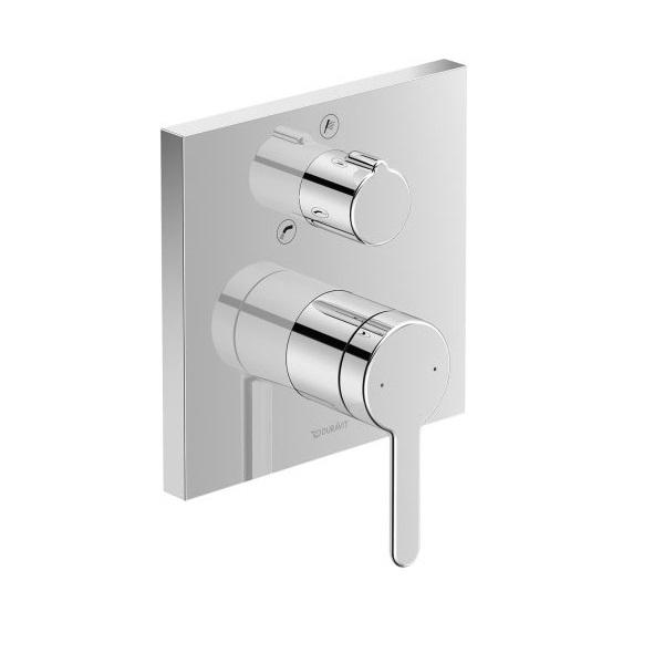 Duravit C.1 vaňová podomietková batéria s prepínačom vaňa / sprcha, hranatá, chróm C15210011010