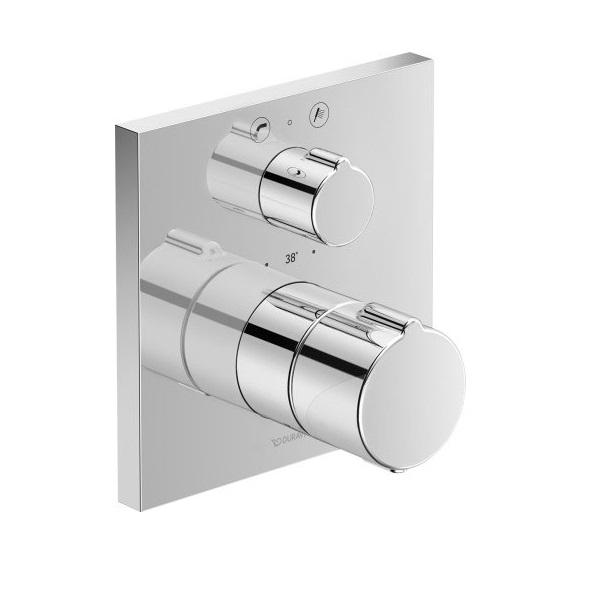 Duravit C.1 vaňová podomietková termostatická batéria, hranatá, prep. vaňa / sprcha, chróm C15200013010