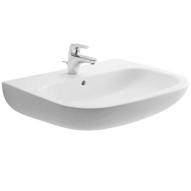 Duravit D-CODE 65 x 50 cm umývadlo s otvorom pre batériu, biele 23106500002