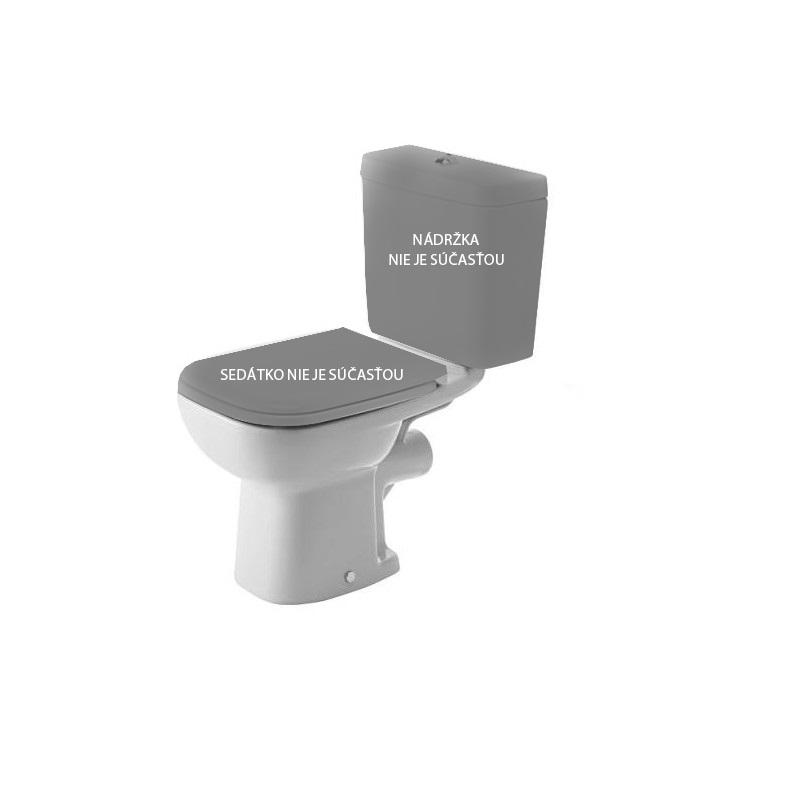 DURAVIT D-CODE misa pre kombi WC, 35,5 x 65 cm, odpad zadný rovný, biela 21110900002