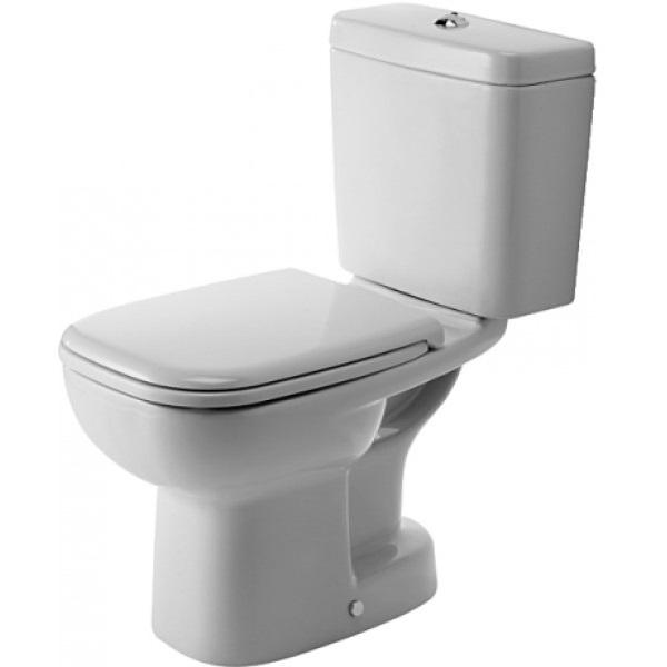 DURAVIT D-CODE misa pre kombi WC, odpad spodný, hlboké splachovanie, biela 21110100002