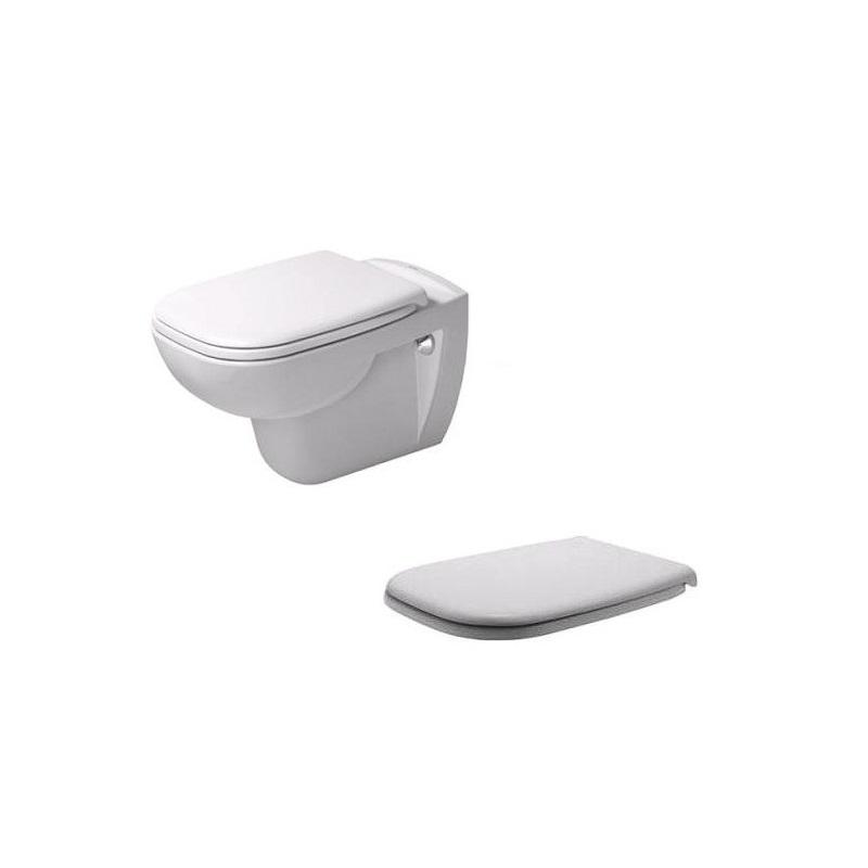 DURAVIT D-CODE set 2v1 závesná WC misa + WC sedátko bez SoftClose 45351900A1