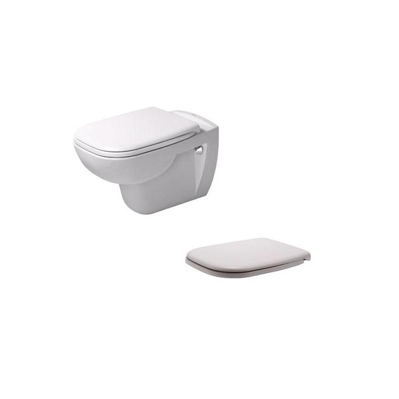 DURAVIT D-CODE set 2v1 závesná WC misa + WC sedátko so SoftClose 45350900A1