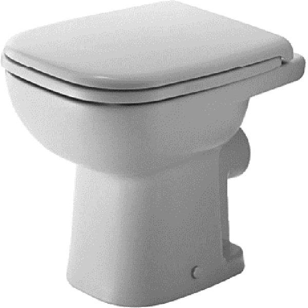 DURAVIT D-CODE stojaca WC misa 35 x 48 cm, hlboké splachovanie, odpad zadný rovný, biela 21080900002