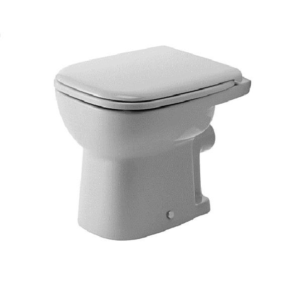 DURAVIT D-CODE stojaca WC misa 35 x 48 cm s plochým splachovaním, odpad zadný rovný 21090900002