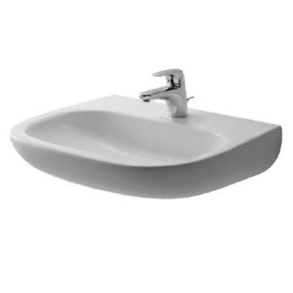 DURAVIT D-CODE umývadlo MED 60 x 46 cm bez prepadu, biele 23116000702