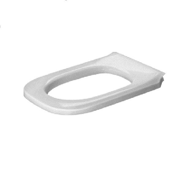 DURAVIT D-CODE Vital WC sedátko - kruh - s nerezovými pántami, biele 0060710000