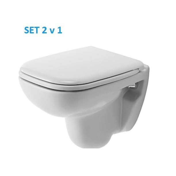 DURAVIT D-Code wc compact set so sedátkom 325824