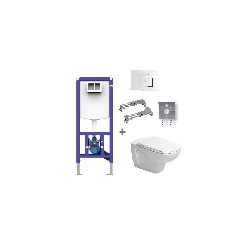 DURAVIT D-CODE WC SET 6v1 s WC setom 45700900A1