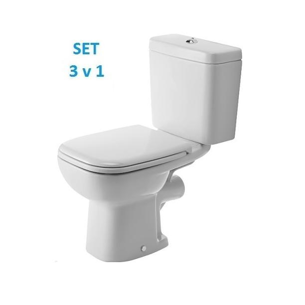 DURAVIT D-Code wc set misa 21110900002 + nádrž + sedátko0067310000 biele, 325818