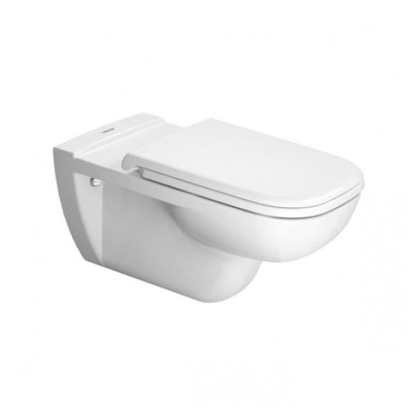 DURAVIT D-CODE závesná WC misa pre telesne postihnutých, hlboké splachovanie, odpad zadný rovný, biela 22280900002