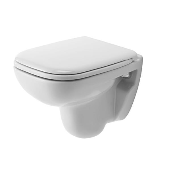 DURAVIT D-Code - Závesné WC Compact, s HygieneGlaze, alpská biela 22110920002
