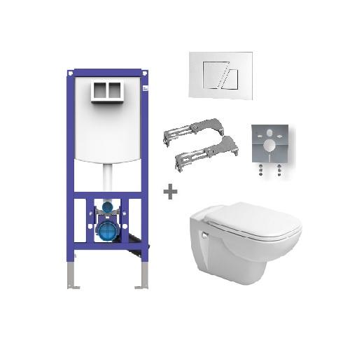 DURAVIT D-Code zvýhodnený WC SET 6v1 371838