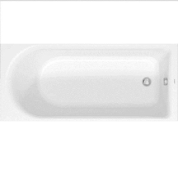 Duravit D-NEO akrylátová vaňa 170 x 75 cm biela, odpad pri nohách 700479000000000