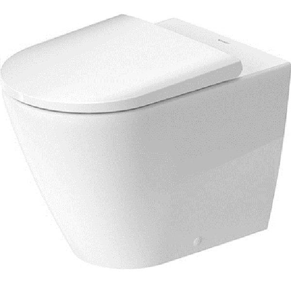 Duravit D-NEO misa WC stojaca 37 x 58 cm, Rimless, odpad vodorovný, biela Hygiene Glaze 2003092000