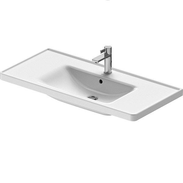 Duravit D-NEO nábytkové umývadlo 100,5 x 48 cm s prepadom, biele 2367100000