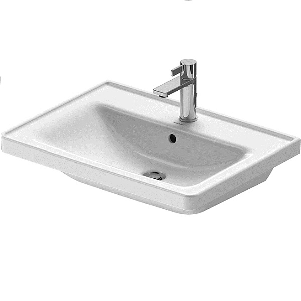Duravit D-NEO nábytkové umývadlo 65 x 48 cm s prepadom, biele 2367650000
