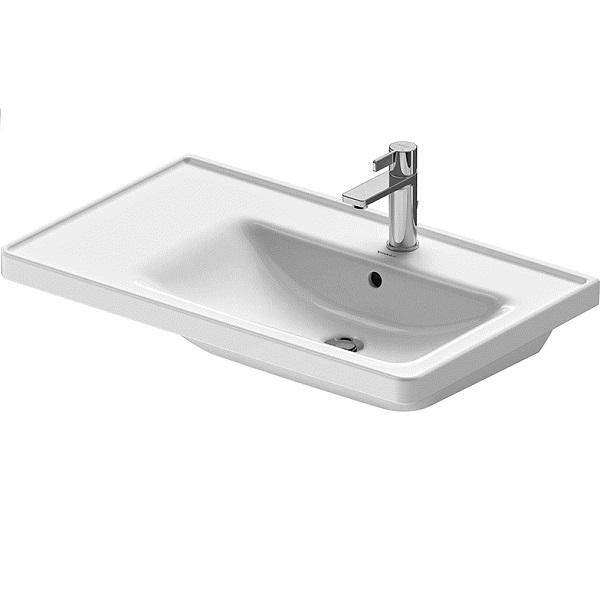 Duravit D-NEO nábytkové umývadlo 80 x 48 cm asymetrické s um. vaničkou vpravo, s prepadom, biele 2370800000