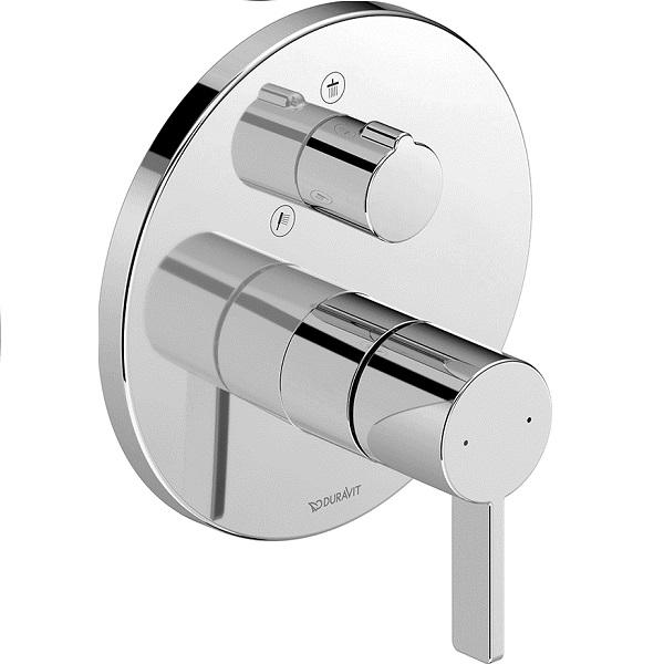Duravit D-NEO sprchová podomietková batéria, prep. horná / ručná sprcha, chróm DE4210012010
