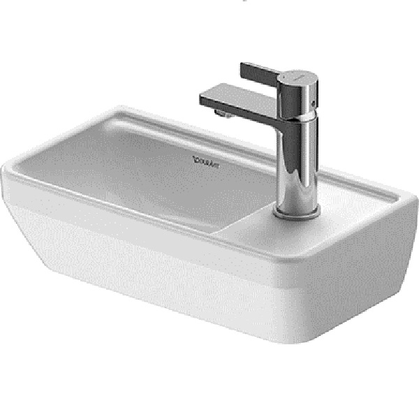 Duravit D-NEO umývadielko 40 x 22 cm bez prepadu, biele 0739400041