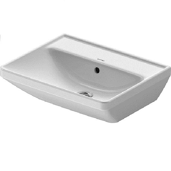 Duravit D-NEO umývadlo 55 x 44 cm s prepadom, bez otvoru pre batériu, biele 2366550060