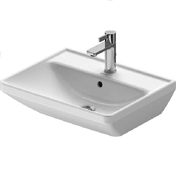 Duravit D-NEO umývadlo 55 x 44 cm s prepadom, biele 2366550000